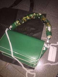 Charles & Keith Green Handbag / Bag / Tas / Slingbag