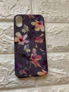 Iphone X Purple Floral Case