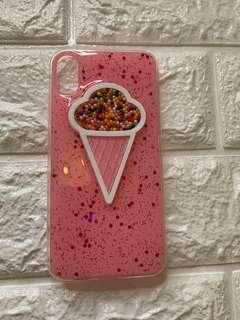 iphone x Case Pink Ice cream