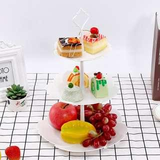 New Plastic three tier cupcakes party fruit stands plater plates cup cakes display party decorations