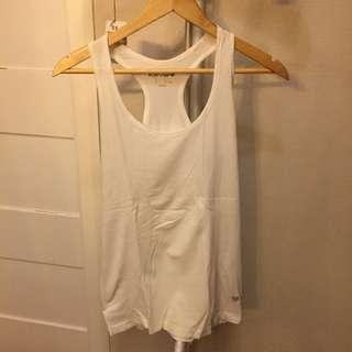 Forever 21 workout top white