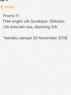 Free ongkir utk Surabaya dan sekitarnya