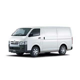 (Rental) Toyota Hiace Box Up Cargo Van