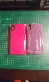 Iphone X hard casing with card slot and mirror