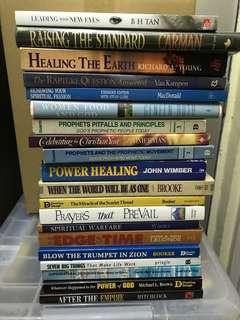 Christian books - assorted