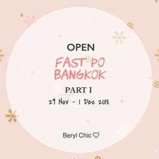 OPEN FAST PO BANGKOK