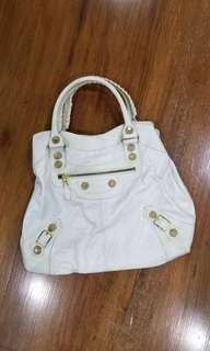 balenciaga white bag
