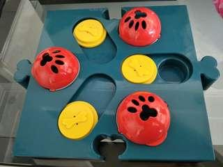 Interactive dog play bowl