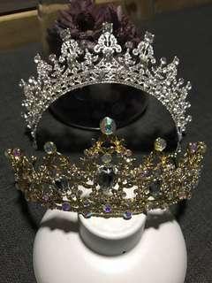 Instock 1pc Each Silver & Gold Tiara Princess