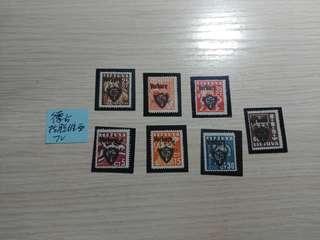 二戰德佔拉脫維拉加蓋郵票