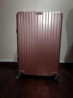 ITO Rose Gold 30 inches 4 wheels luggage with fabric protective cover
