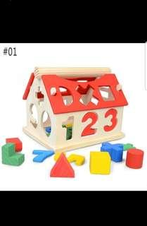 Brand New Wooden Shapes/Numbers/Clock