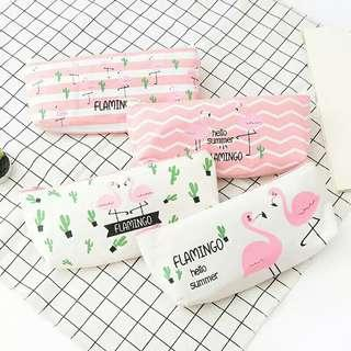 Free Gratis Ongkir - Flamingo Summer Pencil Case / Tempat Pensil