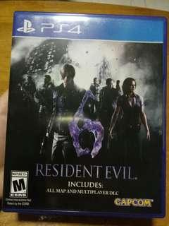 WTS Resident Evil 6 PS4