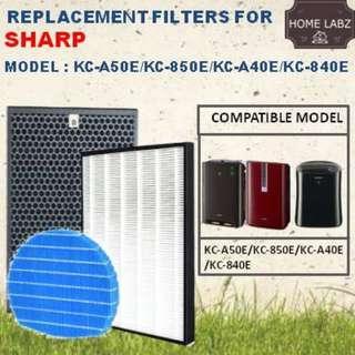 🚚 Sharp KC-A50E/KC-850E/KC40E/KC-840E Compatible Filter