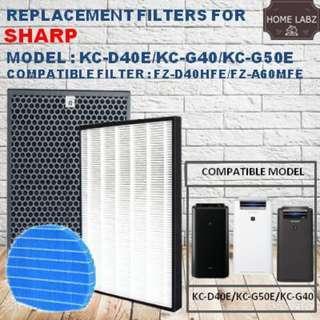Sharp KC-D40E/KC-G50E/KC-G40/KC-D60E/KC-A60E Compatible Filter