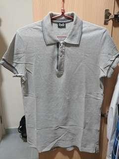 Dolce & Gabbana D&G grey polo shirt 灰色 反領 裇衫