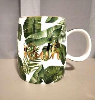 Personalise mug tropical with calligraphy name