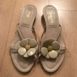 Chanel Camellia Slippers
