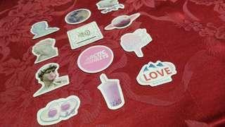 12pcs. Vaporwave Stickers