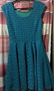 Teal Dress (above the knee)
