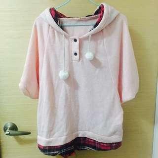 假兩件 粉紅毛絨上衣 #十一月女裝半價