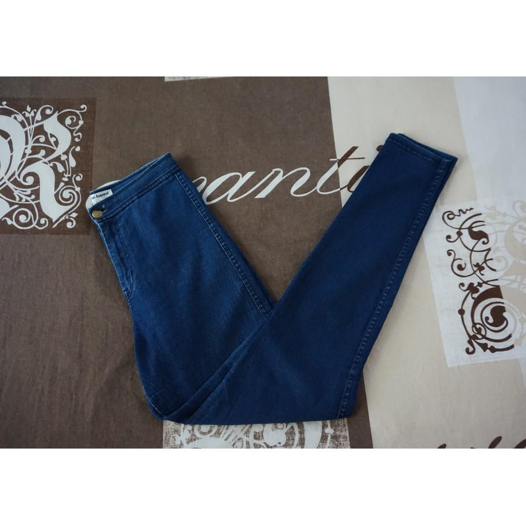 American Apparel Indigo High-Waisted Easy Jean Size Small RRP $125.00
