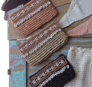 ANDI BAGUS RADA RAFFIA CLUTCH NEW (middle clutch in photo). NEW WITHOUT TAG.