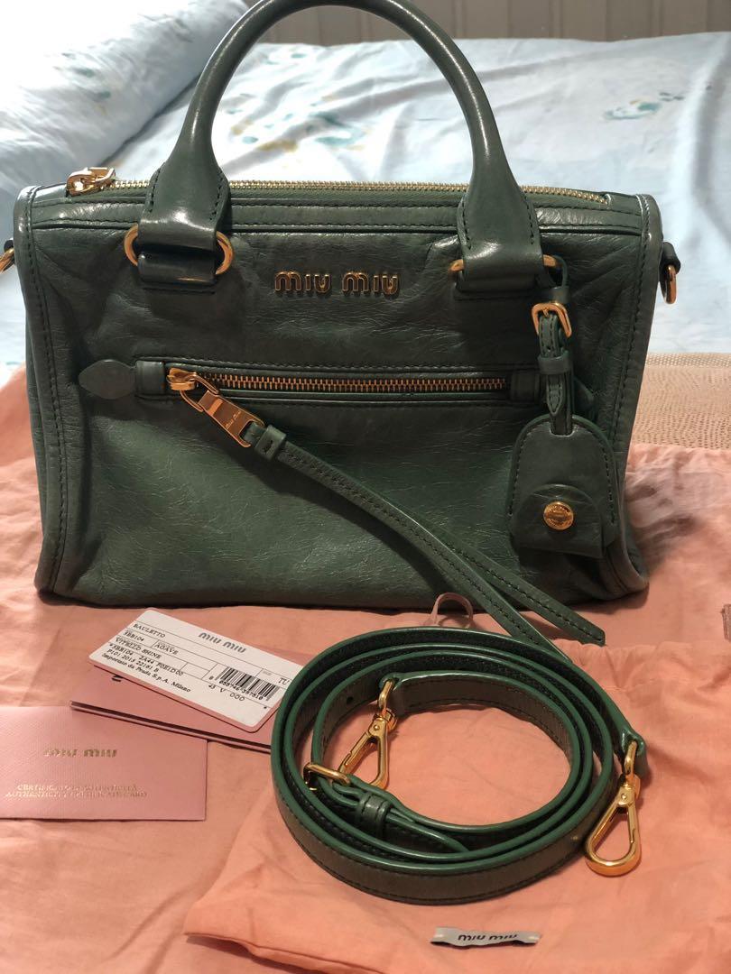 44c6e507d948 Authentic Miu Miu cross body sling bag