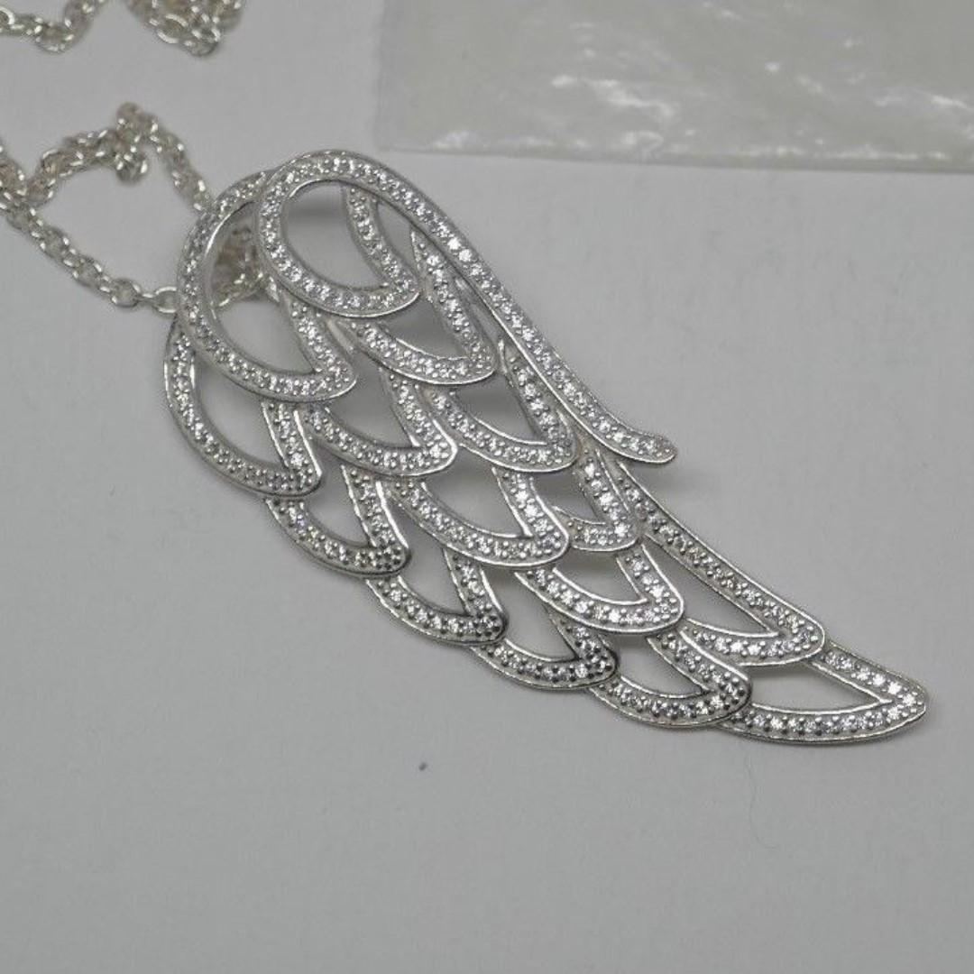 Authentic Pandora Angel Wing Long Necklace New Sterling Silver .925 Beautiful