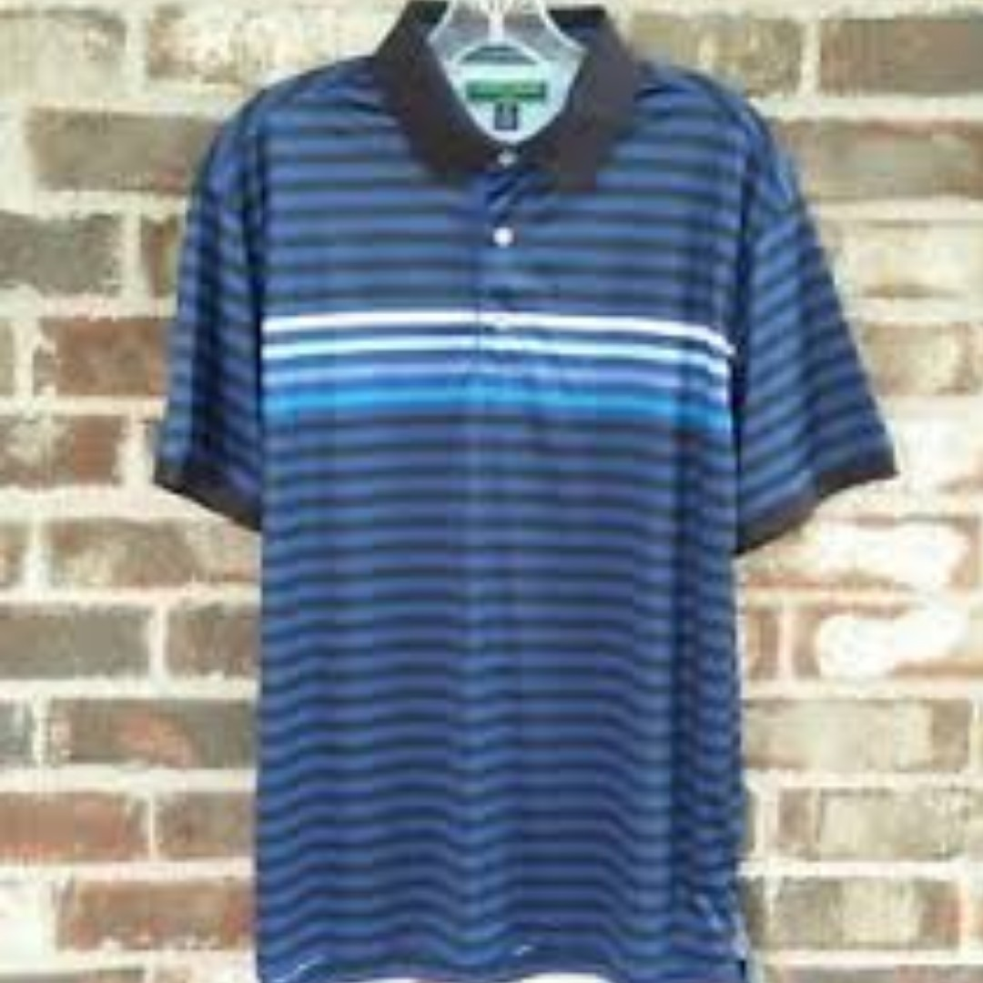 c9ac50221 Authentic Tommy Hilfiger Vintage Blue Striped Polo Tee, Men's ...