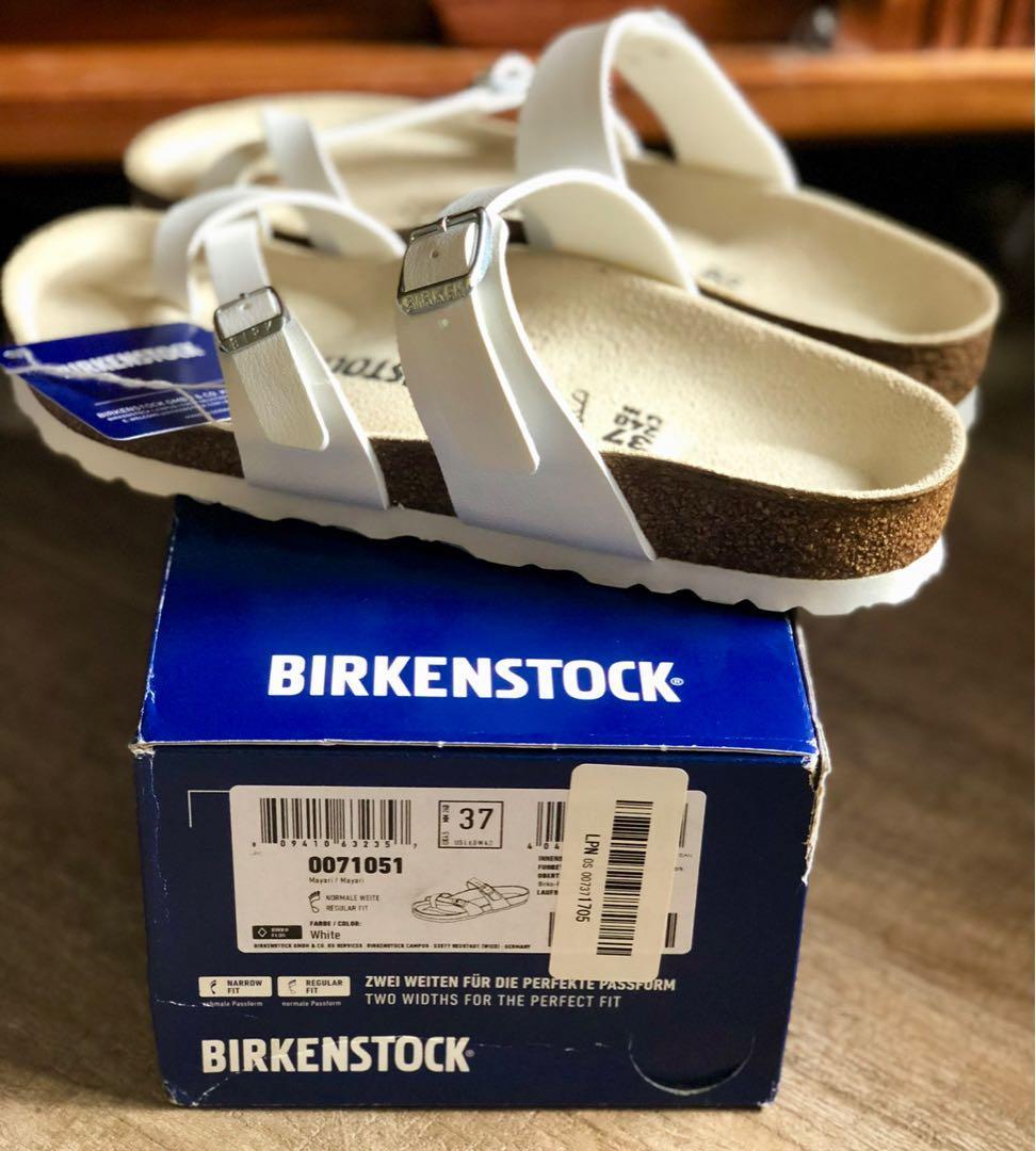 Birkenstock 白色拖鞋