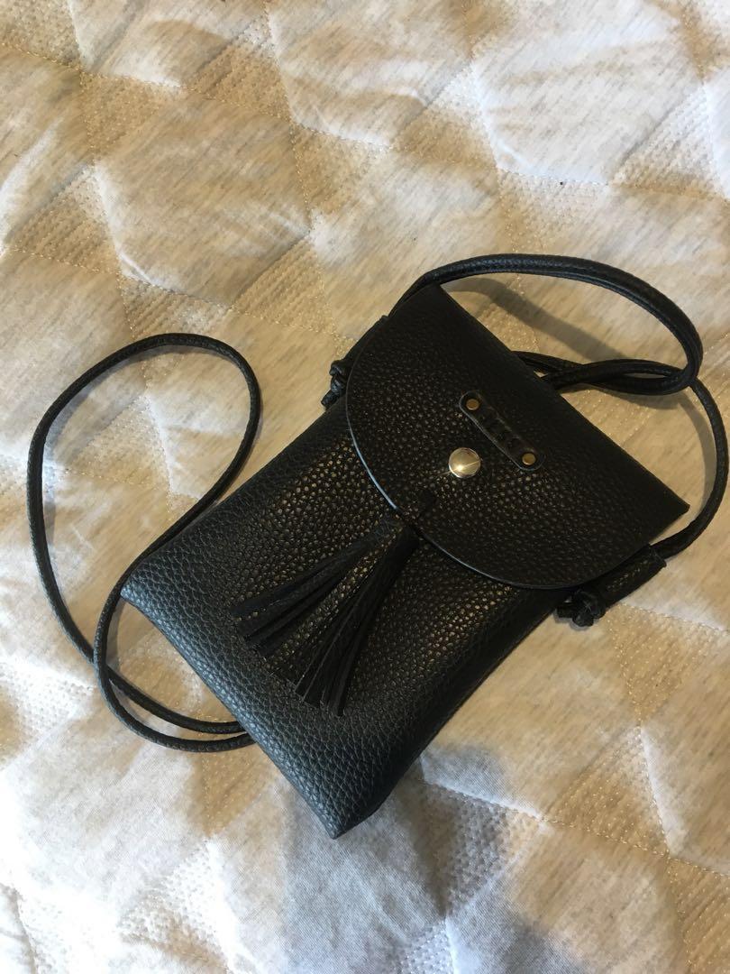 black personalised 'jess' cross body bag