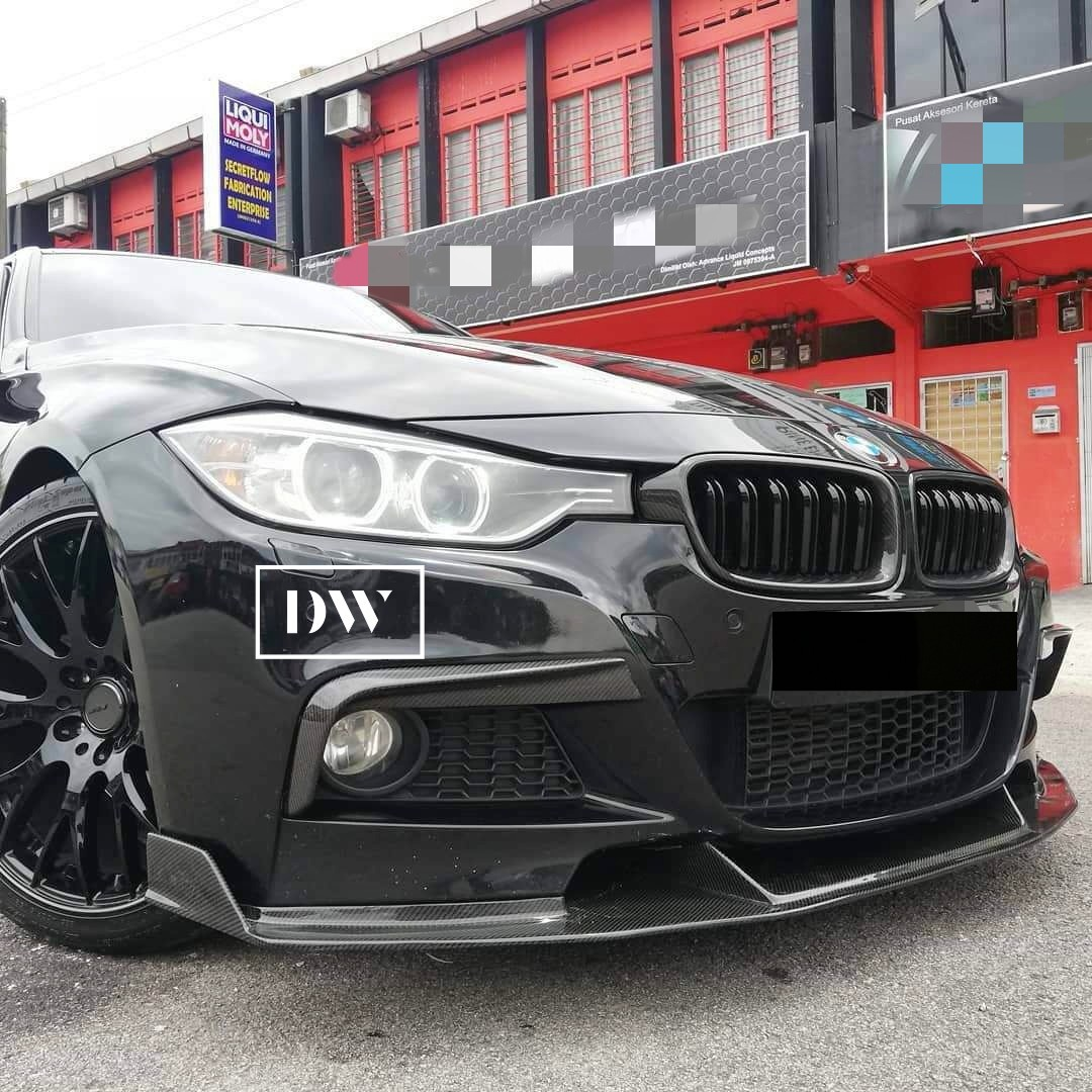 BMW F30 M Sport Front Canards & Front lip