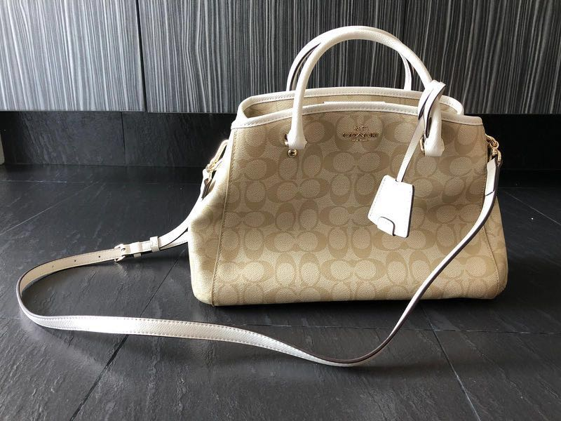 f34cba2b8f3 Coach Small Margot carryall in signature canvas (Light Gold ...