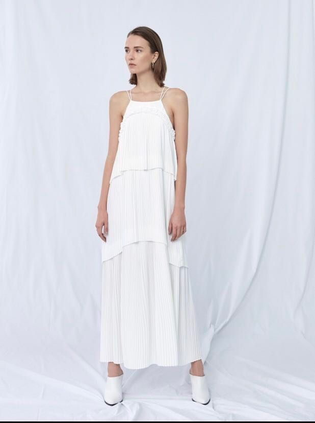 0a1c9dce1ad Collate Tiered Pleated Maxi Dress