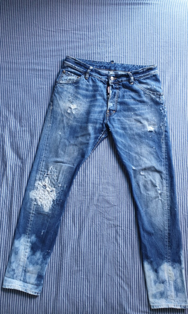 Dsquared2 Size 52 W36 L32 Cool Guy Jeans 100% Authentic Clothes, Shoes & Accessories