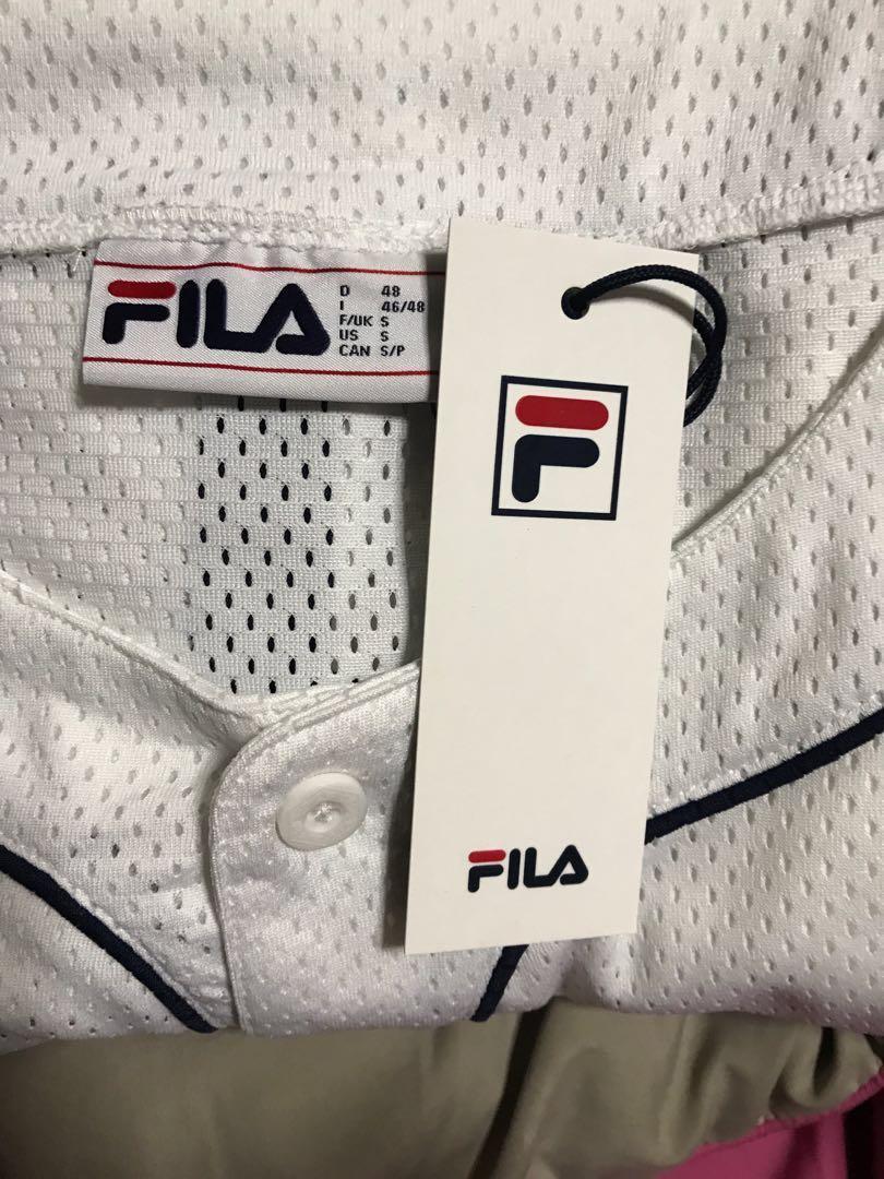 1a5648b92e7 FILA oversized Mesh Baseball Jersey Top, Women's Fashion, Clothes ...