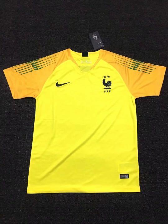 buy online 9e86b e4ba4 France Goalkeeper Kit Yellow, Men's Fashion, Clothes, Tops ...