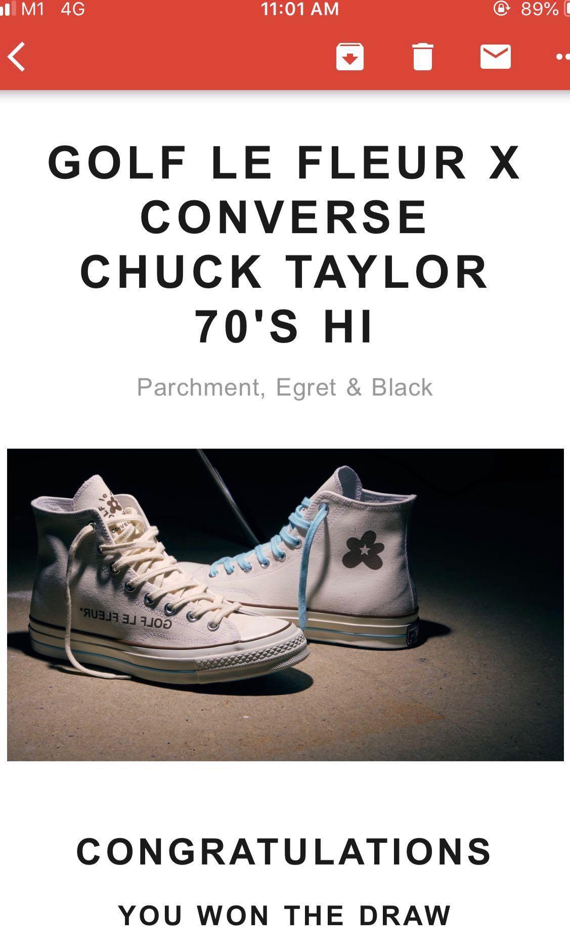 87418de58812 GOLF LE FLEUR X CONVERSE CHUCK TAYLOR 70 S HI PARCHMENT