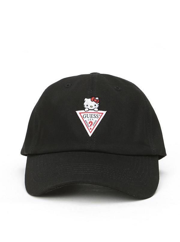 373989cd Guess X Hello Kitty Triangle Logo Baseball Hat (Pre-order), Women's ...