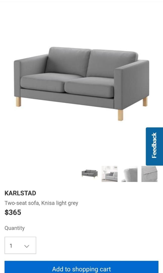 Ikea Karlstad Sofa Furniture Sofas On