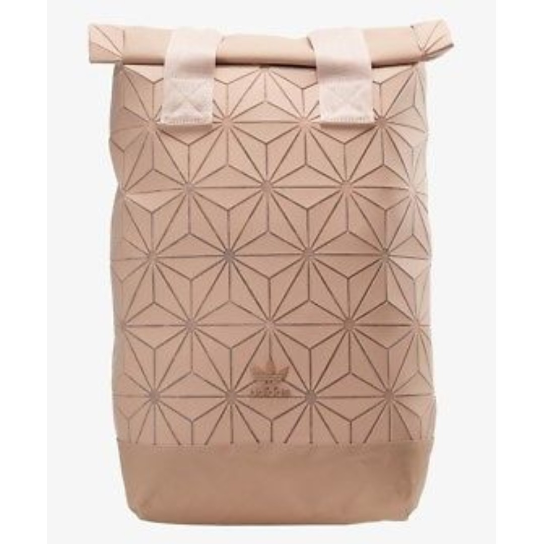 ee3cd39bb8 Instock Adidas x Issey Miyake 3D Roll Up Top Backpack - Pink ...