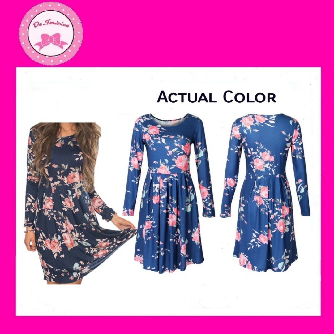 b600cb9555d 🌺 New Collection! Instock Blue Floral Midi Dress ( Suitable for ...