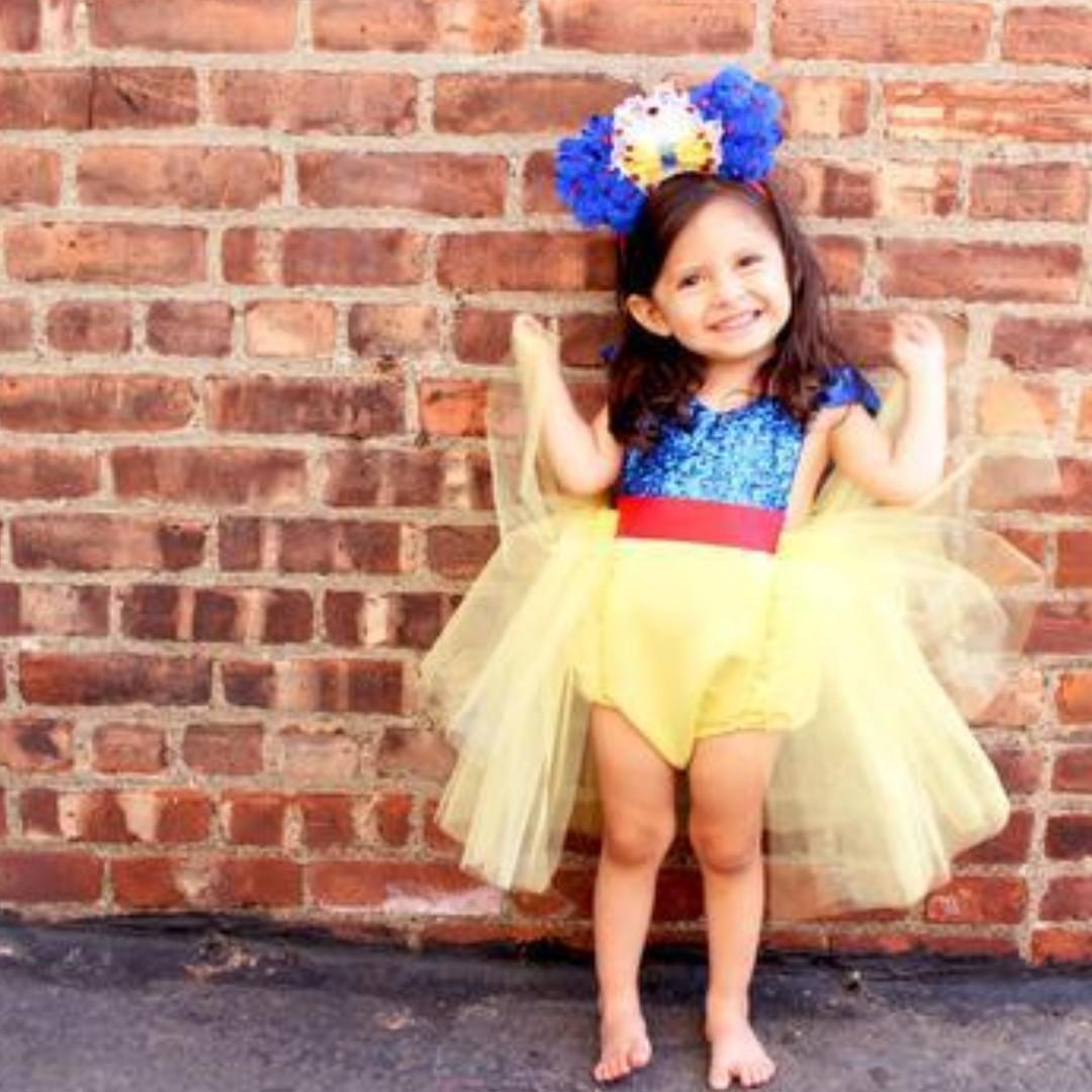 Instock Yellow Frock Romper Dress Snow White Princess Theme
