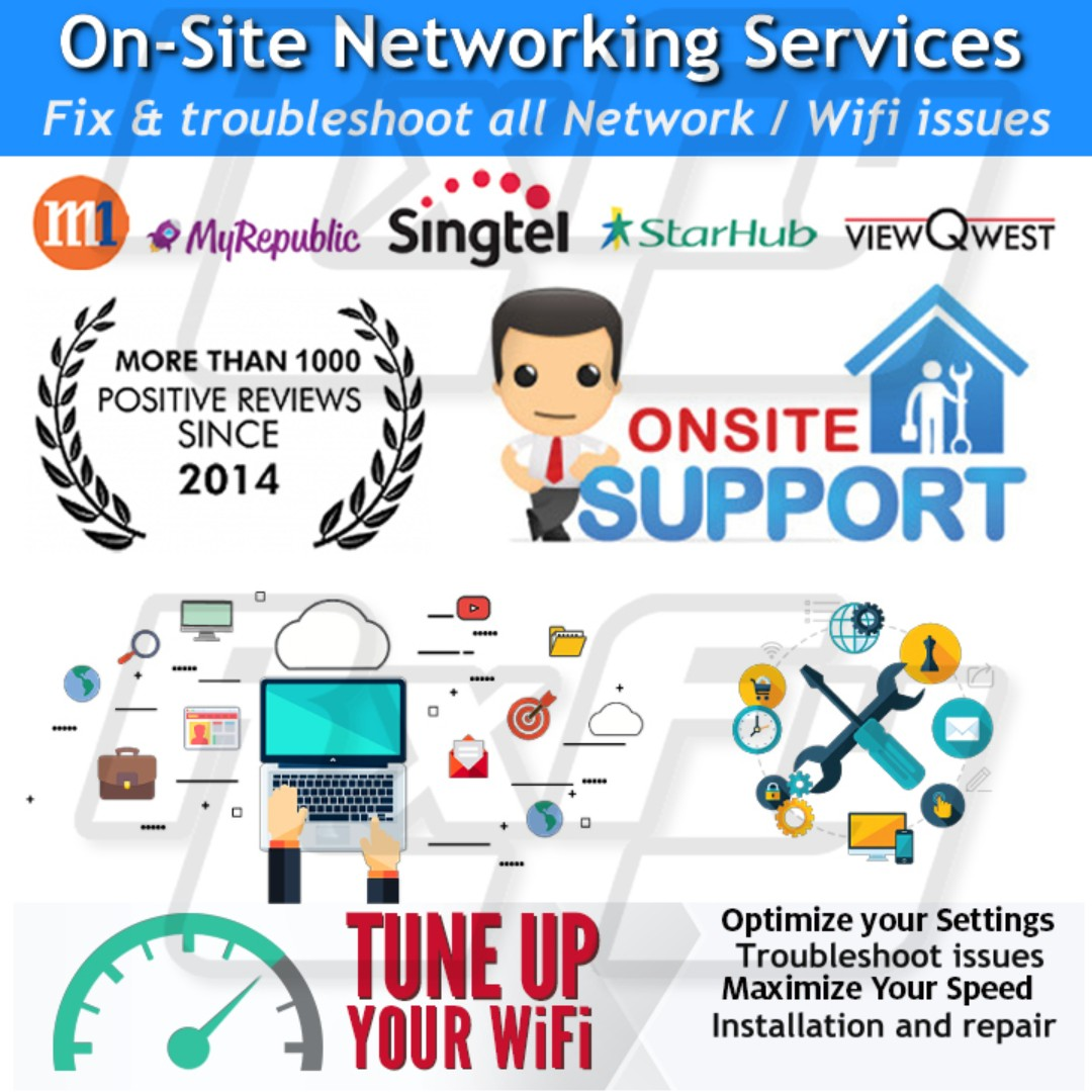 Internet Network Wifi wireless router fix repair tune speed up optimization  gaming singtel myrepublic m1 starhub viewquest computer pc laptop repair