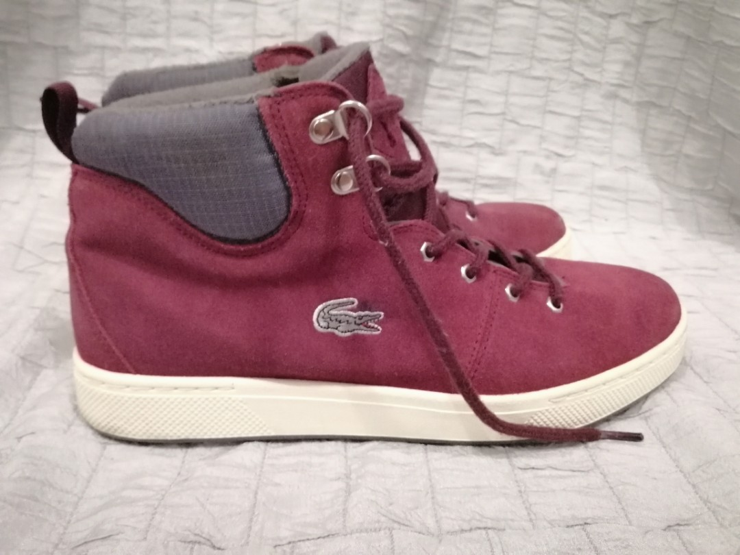 79459d2496f Lacoste Studland Eo Spm Sde Sneakers Shoes Mens (Dk Red / Dk gray ...