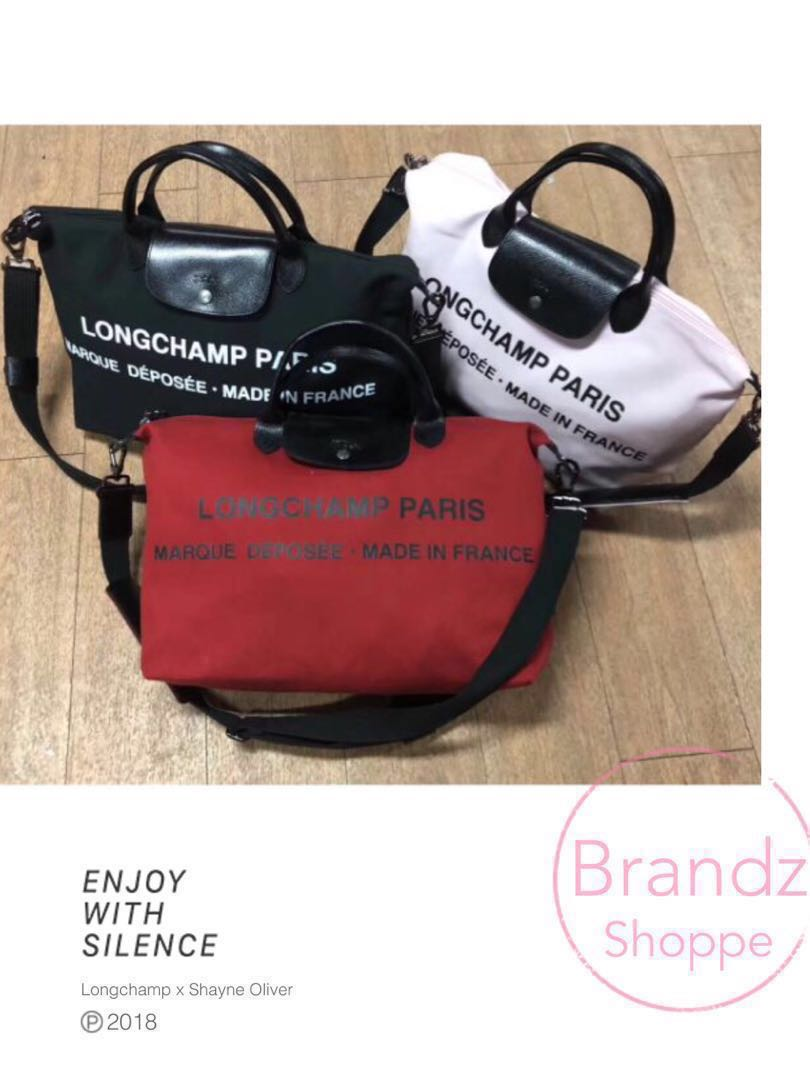 2989b9bcbc48 Longchamp x Shayne Oliver Hiatus Top Handle W  Long Strap   3 Colors (Large    Travel Size) 2018 New Model