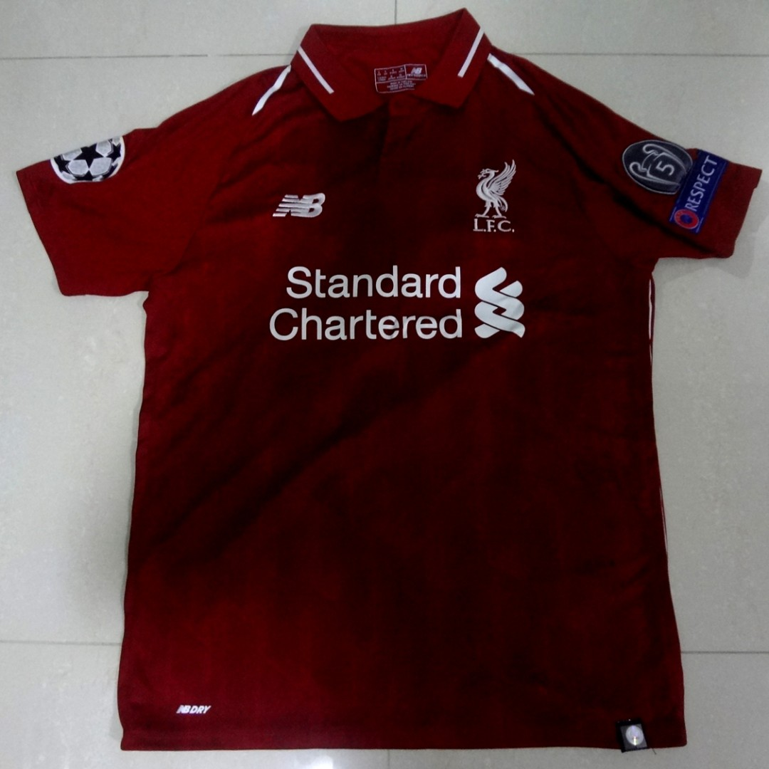 16c69474 Liverpool BNWT Home Jersey 18/19 Champions League Sadio Mane 10 ...