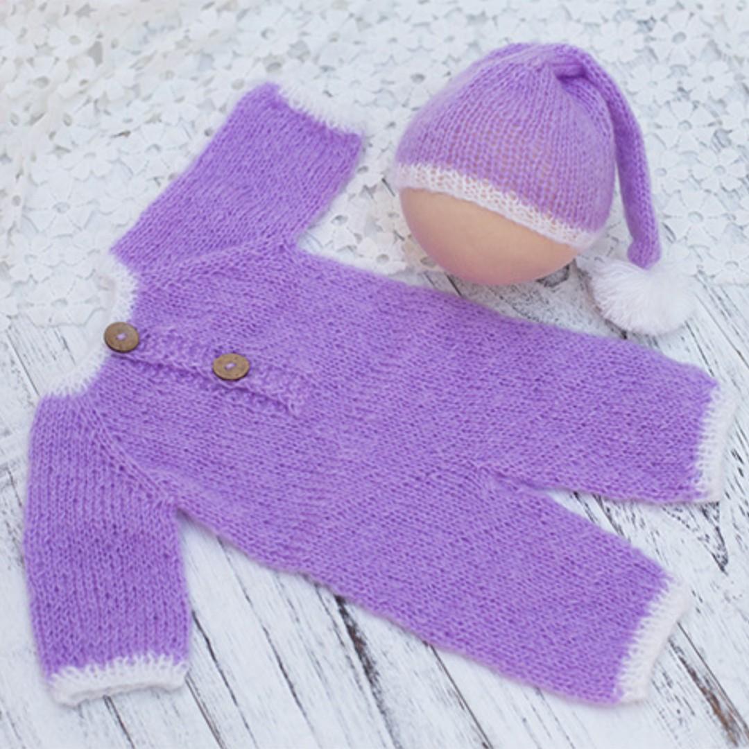 ac2b6ab74f8 Newborn Photography Props Baby Handmade Crochet Knitted Santa Claus ...